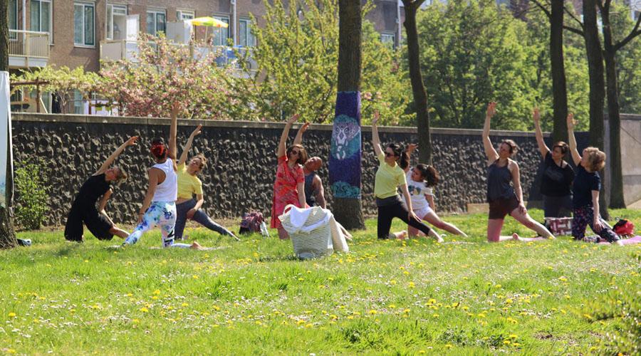 elke zondagochtend | Buitenyoga Taste of Yoga